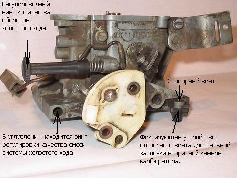 Для регулировки оборотов двигателя на холостом ходу и содержания СО в...